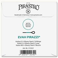 Evah Pirazzi Silvery Steel Violin E String with Loop End