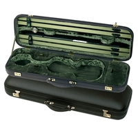 Jaeger Oblong Violin Case - Brown Leather